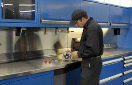 Rousseau technicians' automotive work stations are versatile solutions for your auto repair shop