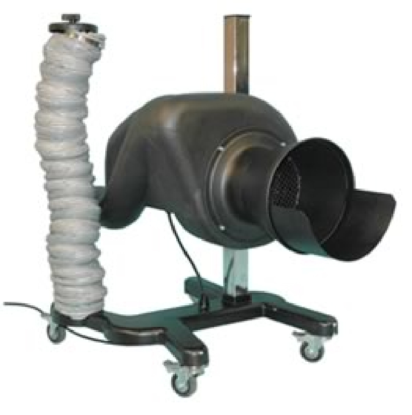 Eurovac vehicle exhaust removal system - portable unit Model #EV-5100 - sold by Total Tool