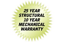 Mohawk lifts have a 25 year warranty
