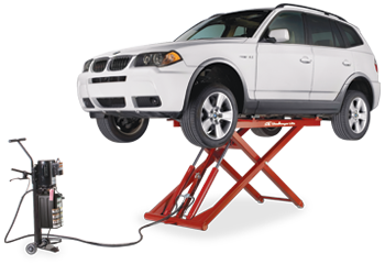 Challenger Automotive Lifts -- Portable Mid-Rise Lift