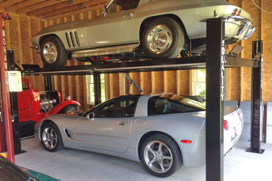 Quality Automotive Lifts for home garage and auto storage are sold by Total Tool