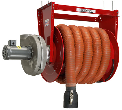 Monoxivent's Hose Reels are the premier solution for vehicle exhaust fume removal