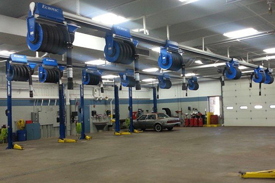 Eurovac Exhaust Removal Systems are sold, installed and supported by Total Tool, serving the northeast region.