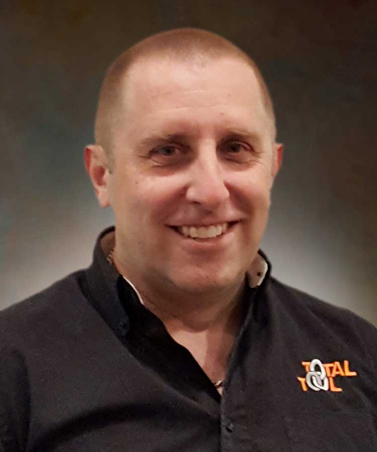 Jody Warman Parts Manager for Total Tool, area's top provider of automotive shop equipment, and car and truck lifts.